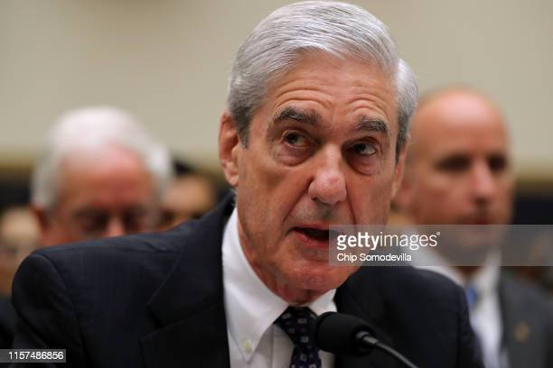 Former Special Counsel Robert Mueller makes an opening statement before testifying to the House Judiciary Committee about his report on Russian...