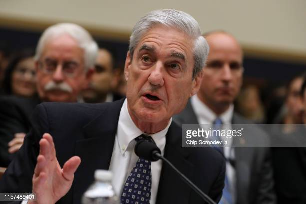 Former Special Counsel Robert Mueller testifies before the House Judiciary Committee about his report on Russian interference in the 2016...