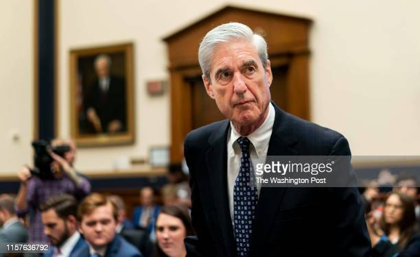 Former Special Counsel Robert Mueller testifies before the House Permanent Select Committee on Intelligence on Capitol Hill on Wednesday July 24 2019...