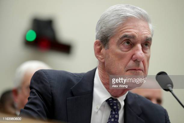 Former Special Counsel Robert Mueller testifies before the House Intelligence Committee about his report on Russian interference in the 2016...