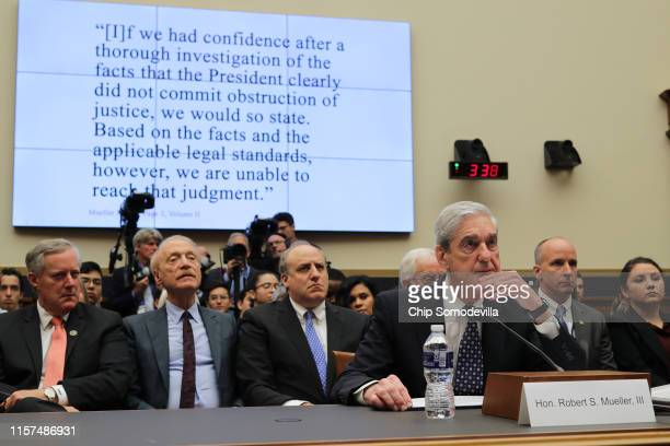 Former Special Counsel Robert Mueller testifies to the House Judiciary Committee about his report on Russian interference in the 2016 presidential...