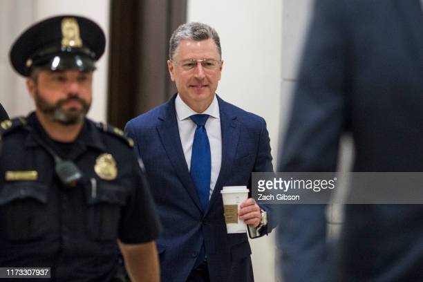 Former Special Envoy to Ukraine Kurt Volker arrives on Capitol Hill before a closeddoor deposition led by the House Intelligence Committee on October...