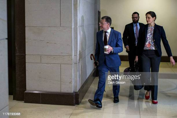 Former Special Envoy to Ukraine Kurt Volker arrives on Capitol Hill on October 16 2019 in Washington DC Volker will continue testimony to the House...