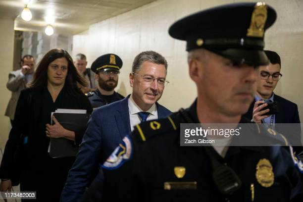 Former Special Envoy to Ukraine Kurt Volker departs following a closeddoor deposition led by the House Intelligence Committee on Capitol Hill on...