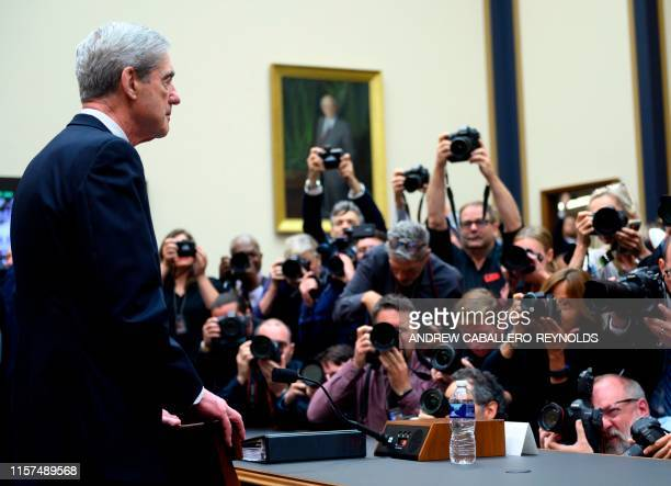 Former Special Prosecutor Robert Mueller arrives to testify before Congress on July 24 in Washington DC Mueller told US lawmakers Wednesday that his...