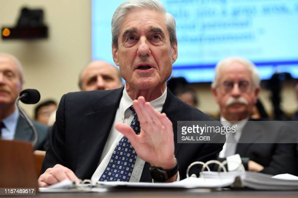 Former Special Prosecutor Robert Mueller testifies before Congress on July 24 in Washington, DC. - Mueller told US lawmakers Wednesday that his...