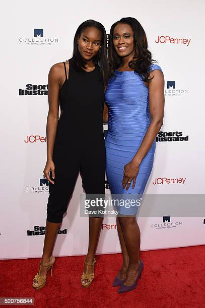 Former Sports Illustrated swimsuit model Damaris Lewis and basketball player Swin Cash attend Sports Illustrated's Fashionable 50 event at Vandal on...