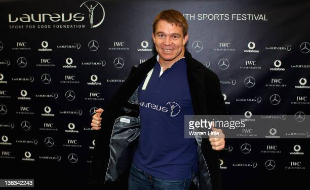 Former Springbok Captain John Smit poses as he attends the Laureus Sport for Good Youth Festival at Millwall Football Club's Lions Centre ahead of...