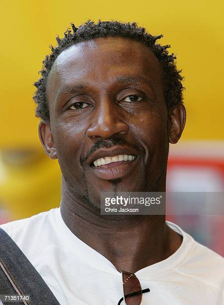 Former sprinter Linford Christie poses for photographs at the Bob The Builder Built To Be Wild UK Premiere at the Odeon West End in Leicester Square...