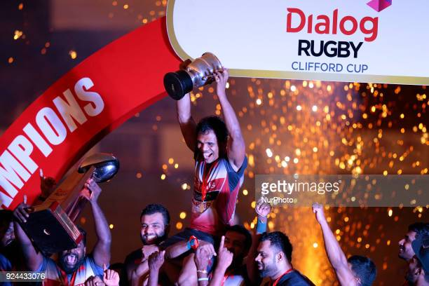 Former Sri Lankan Rugby captain Fazil Marija is seen during his farewell Rugby match for his club Kandy Sports Club at Colombo Sri Lanka on Sunday 25...