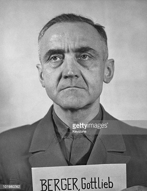 Former SS-Obergruppenfuhrer Gottlob Berger , Nuremberg, Germany, 12th April 1949. From 1940, he was Chief of Staff for the military SS and head of...