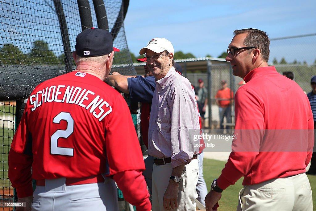 St Louis Cardinals Workout Day : News Photo