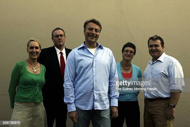 Former staff members of NSW Premier Bob Carr from left Vivienne Skinner Walt Secord Graeme Wedderburn Amanda Lampe and Michael Salmon 20 January 2006...