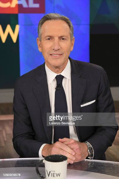 THE VIEW Former Starbucks CEO Howard Schultz visits ABC's The View on Tuesday January 29 2019 The View airs MondayFriday on the ABC Television...