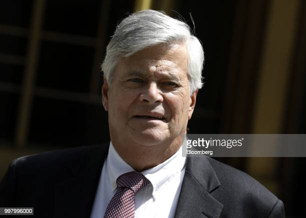 Former State Senate Majority Leader Dean Skelos exits federal court in New York US on Friday July 13 2018 Prosecutors say the oncepowerful Republican...