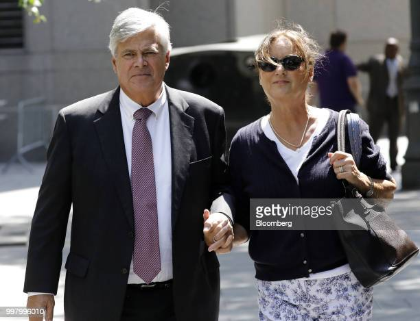 Former State Senate Majority Leader Dean Skelos left exits federal court in New York US on Friday July 13 2018 Prosecutors say the oncepowerful...