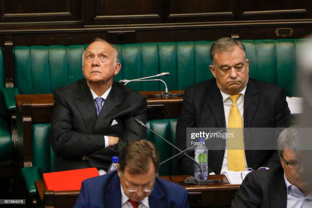 Former Steinhoff chairman Christo Wiese and the companys executives appear at a parliamentary hearing into the Steinhoff scandal on January 31, 2018 in Cape Town, South Africa. Replying to questions, Wiese said, detecting fraud within a company was hugely difficult for board members especially if the CEO was allegedly involved.