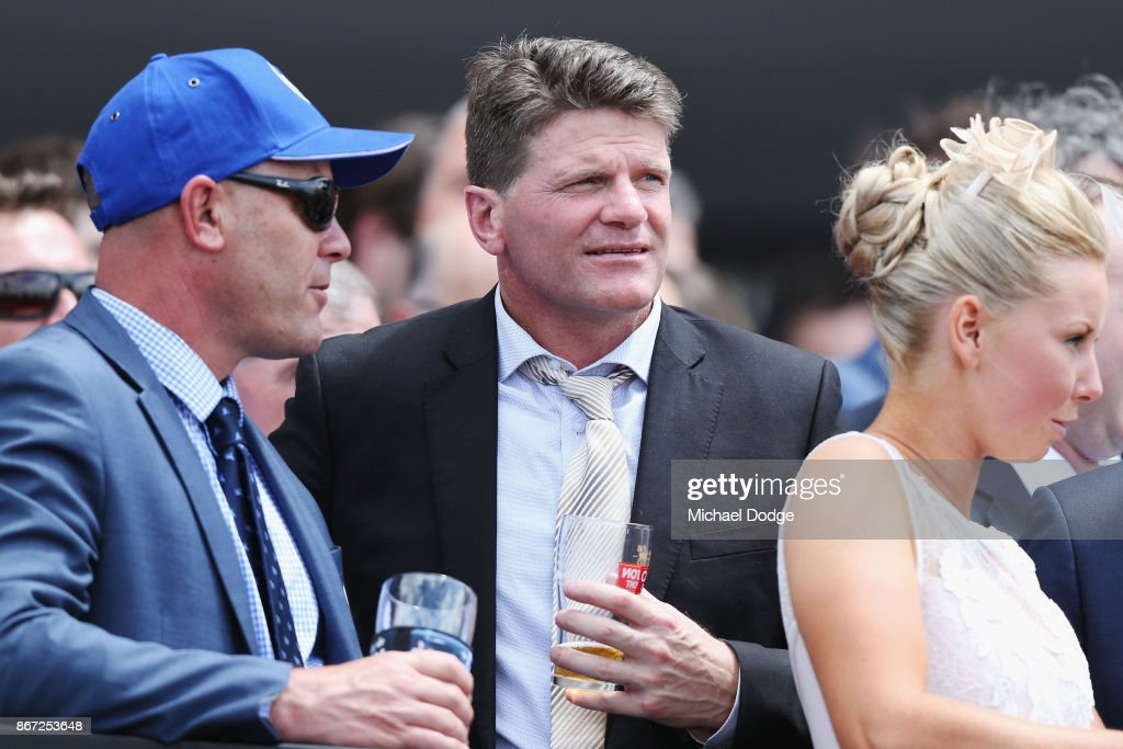 Former St.Kilda Saints AFL legend Robert Harvey is seen during Cox Plate Day at Moonee Valley Racecourse on October 28, 2017 in Melbourne, Australia.