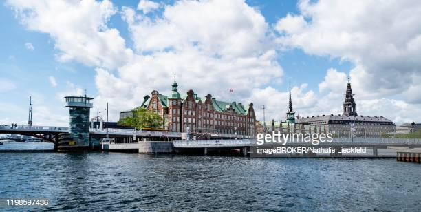 former stock exchange, boersen, christiansborg, copenhagen, denmark - christiansborg palace stock pictures, royalty-free photos & images