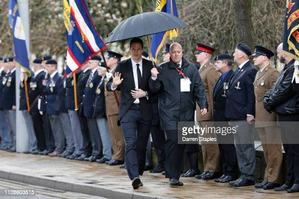 Former Stoke City goalkeeper Asmir Begović attends the funeral of 1966 World Cup and former Stoke City Goalkeeper Gordon Banks on March 04 2019 in...