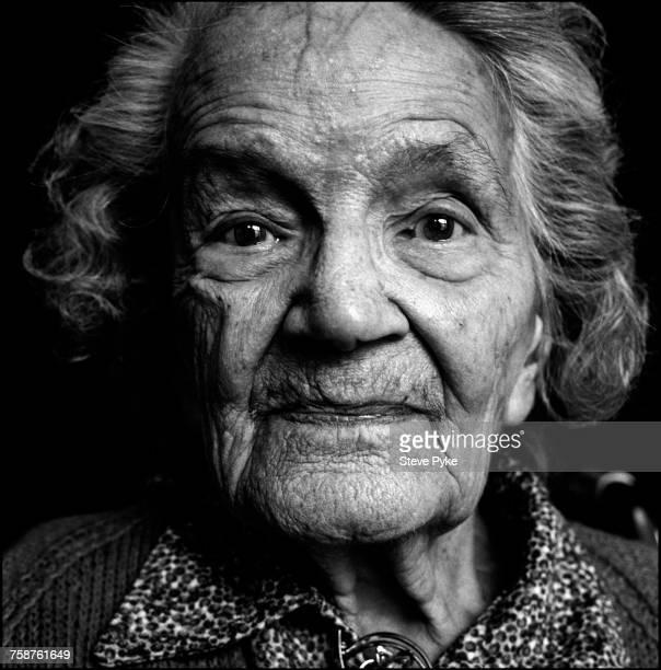 Former suffragette Anne Huggett Barking east London 22nd December 1993 Huggett campaigned for women's suffrage in east London in the 1910s At the...