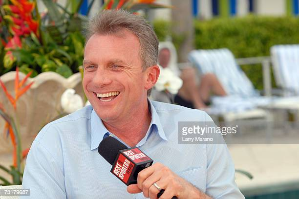 Former Super Bowl MVP Joe Montana attends the taping of The Best Damn Sports Show Period at The Surfcomber Hotel on February 1, 2007 in Miami Beach,...