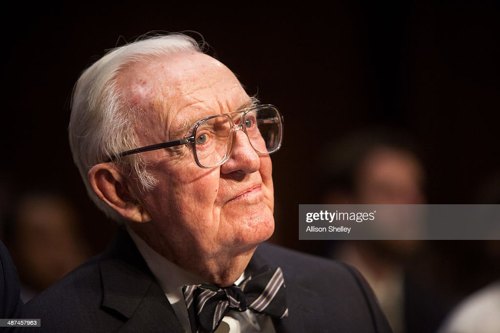 Former Supreme Court Justice John Paul Stevens Testifies To Senate Committee On Campaign Finance : News Photo