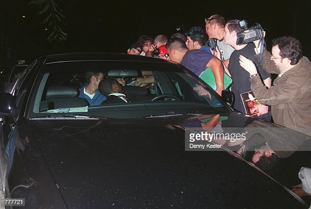 Former Survivor castaway Colleen Haskell smiles to fans from inside her car at Guy's restaurant August 22 2000 in West Hollywood CA