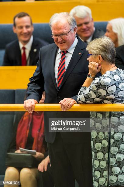 Former Swedish prime minister Goran Persson attends the opening of the Parliamentary session on September 12, 2017 in Stockholm, Sweden.