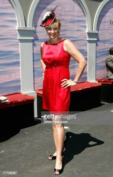 Former swimmer and TV Personality Joanna Griggs poses outside the Emirates Marquee on the second day of the Melbourne Cup Carnival 2007 Melbourne Cup...