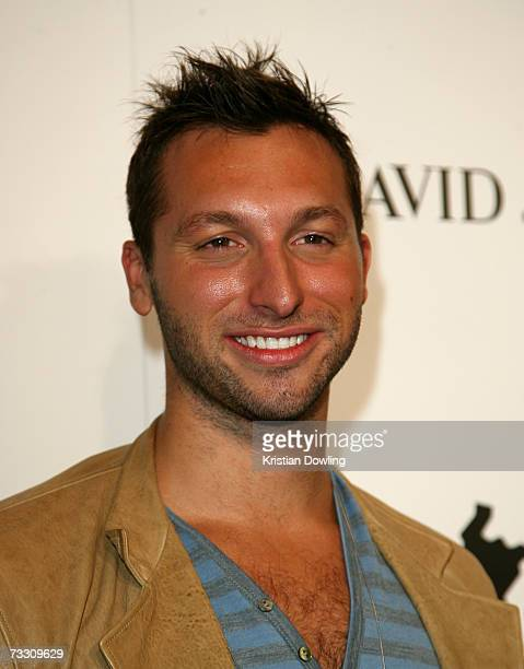 Former swimmer Ian Thorpe arrives at the David Jones Autumn/Winter Collection launch show at Town Hall on February 13 2007 in Sydney Australia The...