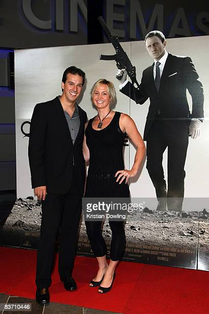 Former swimmers Matt Welsh and Brooke Hanson arrive for the premiere of 'Quantum of Solace' at the Village Cinemas Doncaster on November 16 2008 in...