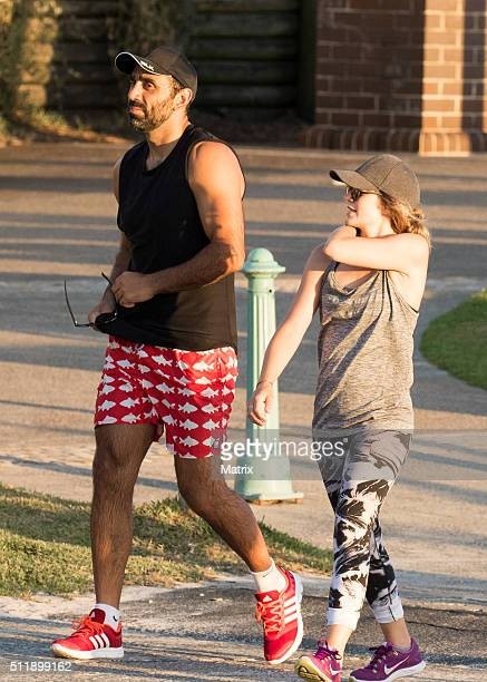 Former Sydney Swans AFL player Adam Goodes is seen at Bondi Beach on February 23 2016 in Sydney Australia