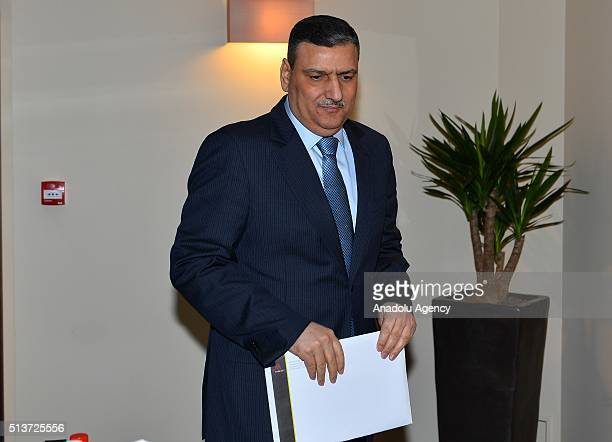 Former Syrian Prime Minister Riyad Farid Hijab holds a press conference after his meeting with French Foreign Affairs Minister JeanMarc Ayrault...