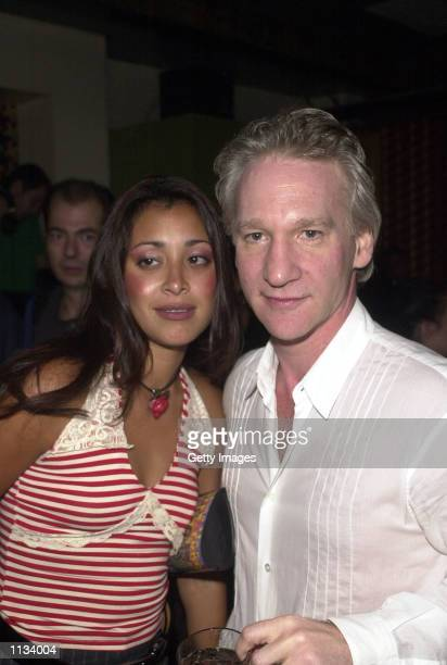 Former talk show host Bill Maher and his girlfriend model Niurka arrive for the 4th anniversary of the Night Club Noel Ashman's Veruka July 18, 2002...