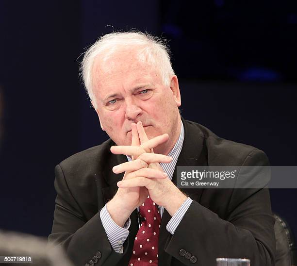 Former Taoiseach of Ireland, John Bruton, attends the 'EU Wargames' event at The Porter Tun on January 25, 2016 in London, England. 'EU Wargames' are...