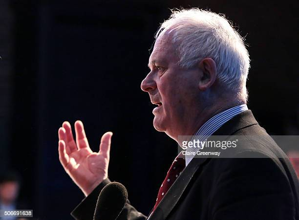 Former Taoiseach of Ireland, John Bruton, speaks at the 'EU Wargames' event at The Porter Tun on January 25, 2016 in London, England. 'EU Wargames'...