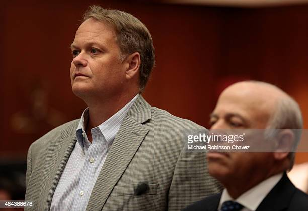 Former teacher Joseph Thomas Koetters is arraigned in Los Angeles Superior Court on felony sex counts stemming from an alleged relationship with a...