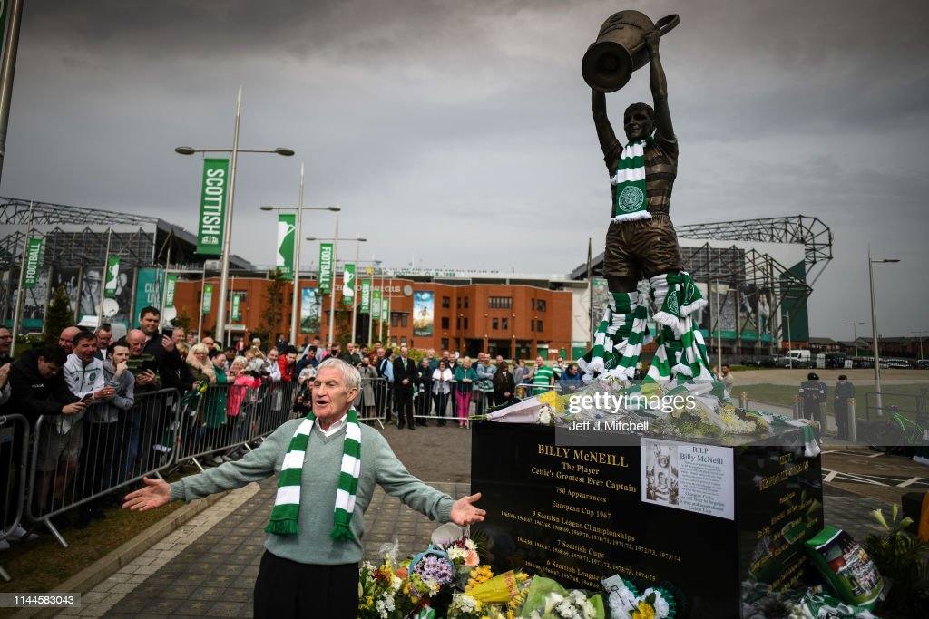 GBR: Fans Pay Tribute To Billy McNeill At Celtic Park
