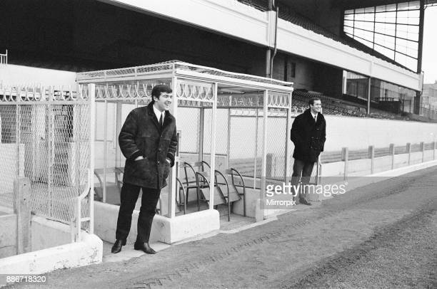 Former teammates Terry Venables George Graham pictured together at Highbury home of Arsenal Football Club Thursday 5th January 1967