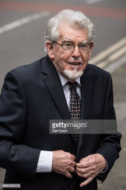 Former television entertainer Rolf Harris arrives at Southwark Crown Court on May 22 2017 in London England Convicted sex offender Mr Harris is...