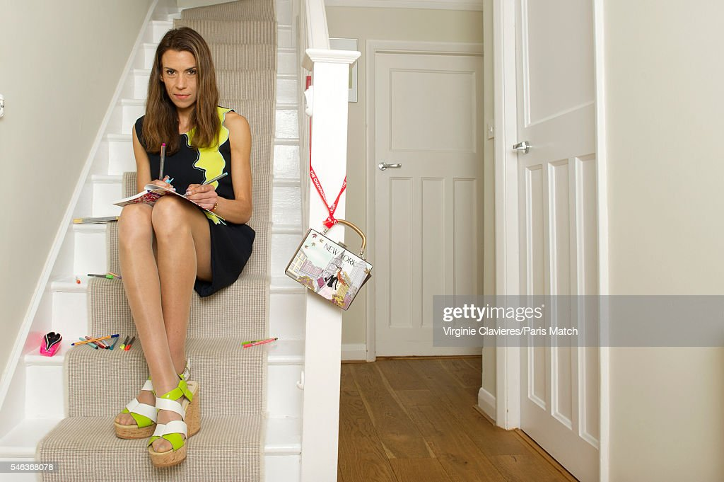 Former tennis champion and broadcaster Marion Bartoli is photographed for Paris Match on June 20, 2016 in London, England.