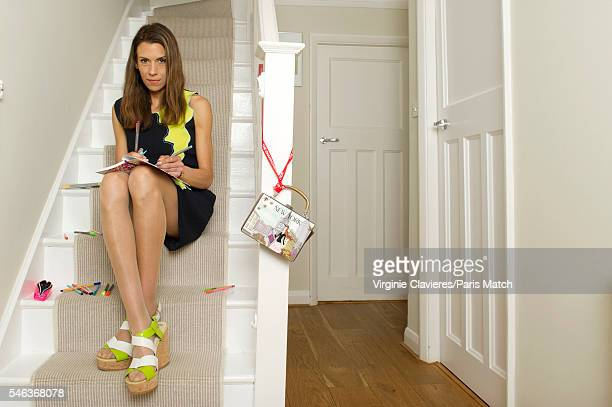 Former tennis champion and broadcaster Marion Bartoli is photographed for Paris Match on June 20 2016 in London England