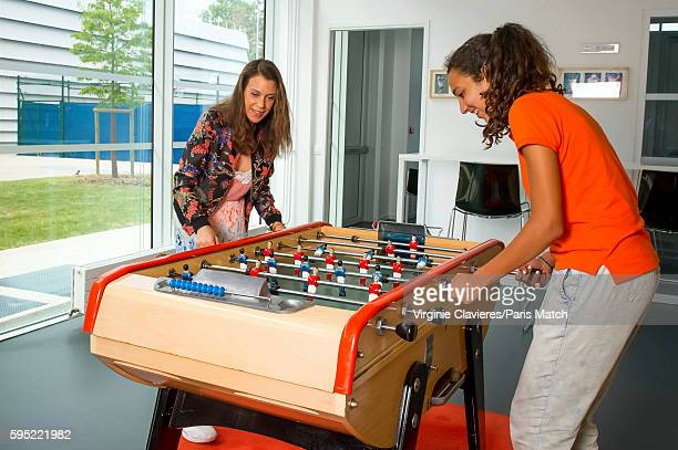 Former tennis champion and broadcaster Marion Bartoli is photographed for Paris Match on July 30 2016 in Paris France