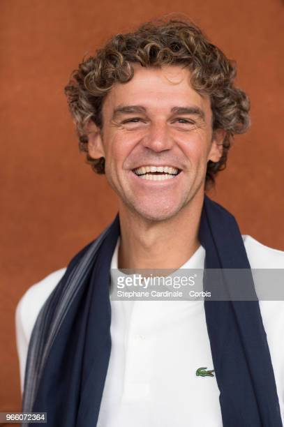 Former Tennis champion Gustavo Kuerten attends the 2018 French Open Day Seven at Roland Garros on June 2 2018 in Paris France