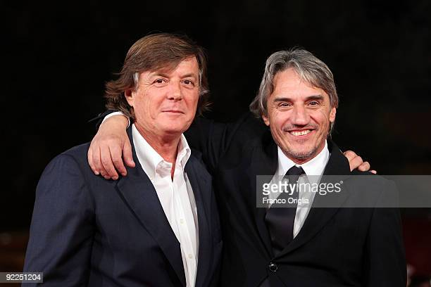 Former tennis player Adriano Panatta and director Mimmo Calopresti attend the 'La Maglietta Rossa' Premiere during Day 8 of the 4th International...