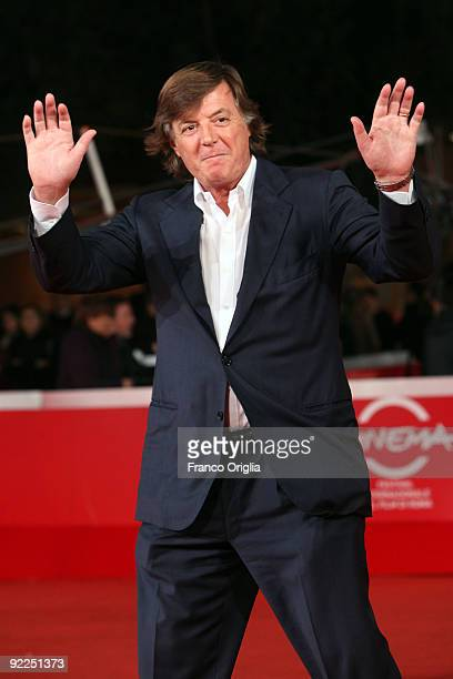 Former Tennis player Adriano Panatta attends the 'La Maglietta Rossa' Premiere during Day 8 of the 4th International Rome Film Festival held at the...