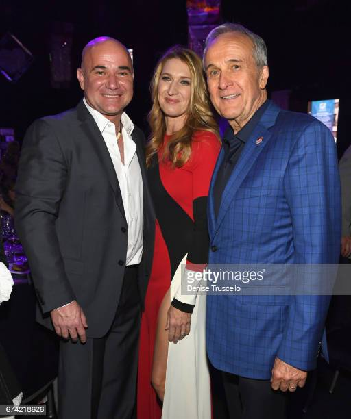 Former tennis player and Community Achievement Award recipient Andre Agassi his wife former tennis player Steffi Graf and Keep Memory Alive CoFounder...