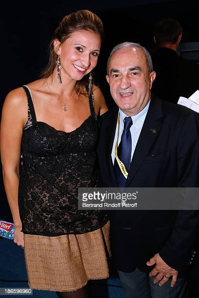 Former tennis player and journalist Tatiana Golovin and President of French Tennis Federation Jean Gachassin attend day five of BNP Paribas Tennis...
