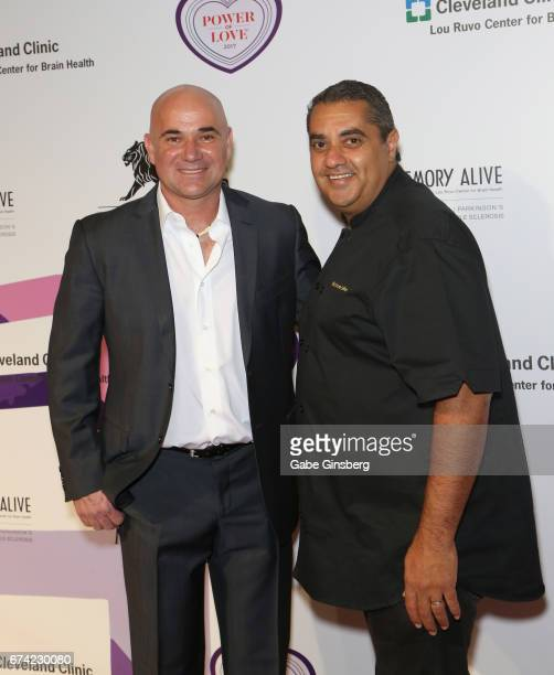 "Former tennis player Andre Agassi and chef Michael Mina attend Keep Memory Alive's 21st annual ""Power of Love Gala"" benefit for the Cleveland Clinic..."